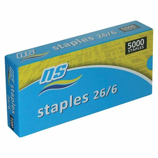 NS STAPLES 26/6 5000 BOX 1'S