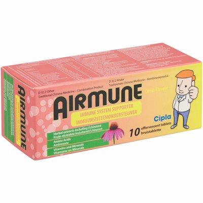 AIRMUNE EFFERVESCENT CITRUS FLAVOUR 10'S