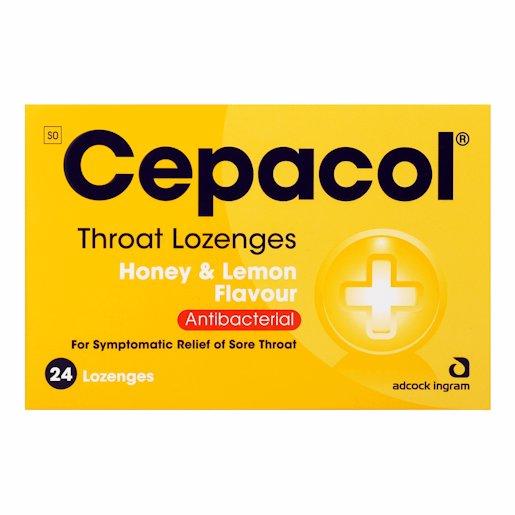 CEPACOL LOZENGES HONEY/LEMON 24'S