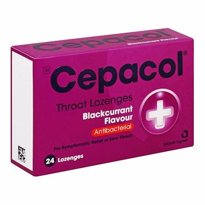 CEPACOL THROAT LOZENGES BLACKCURRENT 24'S