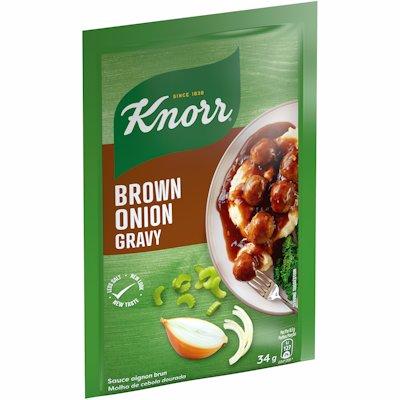 KNORR BROWN ONION GRAVY 34G