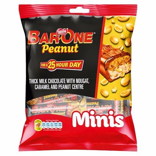 NESTLE BAR ONE P/NUT M/BG 210GR
