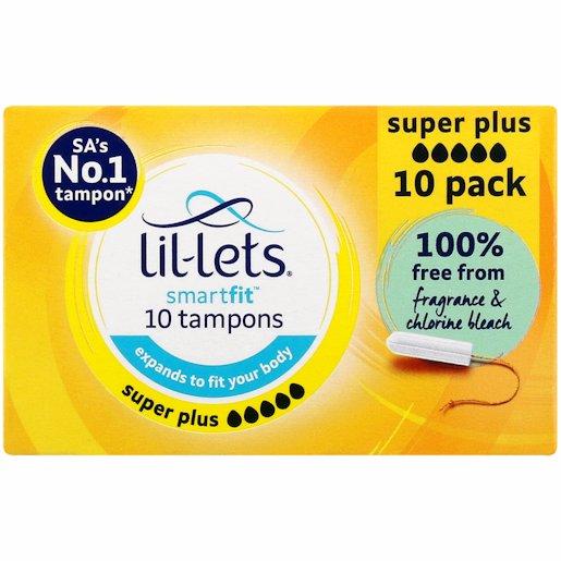 LIL-LETS TAMPONS SUPER PLUS 10'S