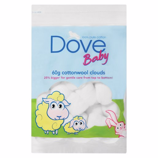 DOVE BABY COTTWOOL CLOUDS 60GR