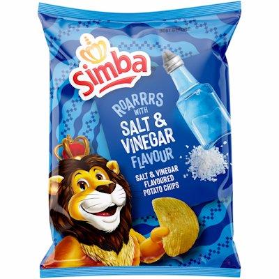 SIMBA CHIPS SLT & VINEGAR 120GR