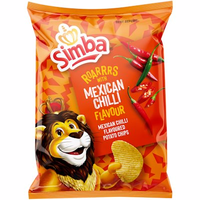 SIMBA MEXICAN CHILLI FLAVOURED POTATO CHIPS 120G