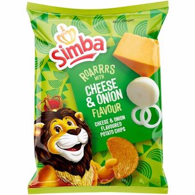 SIMBA CHEESE & ONION FLAVOURED POTATO CHIPS 120G