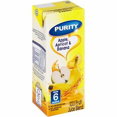 PURITY FRUIT JUICE APPLE APRICOT & BANANA