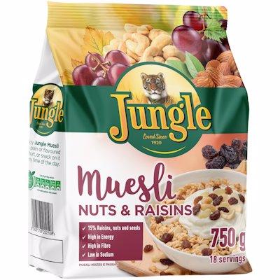 JUNGLE MUESLI NUTS&RAISIN 750GR