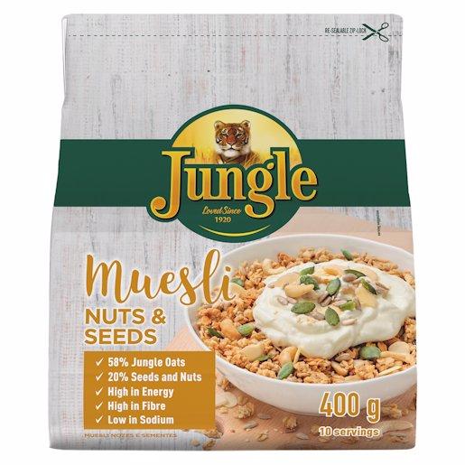 JUNGLE MUESLI NUTS & SEED 400GR