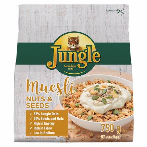 JUNGLE MUESLI NUTS & SEED 750GR