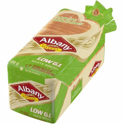ALBANY LOW GI SLICED WHITE BREAD 700G