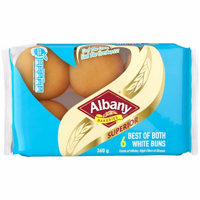 ALBANY BEST OF BOTH BUNS 6'S
