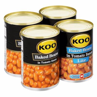 KOO BAKED BEANS IN TOMATO 410GR