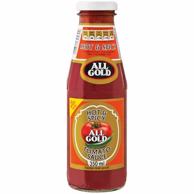 ALL GOLD TOMATO SAUCE HOT & SPICY 350ML