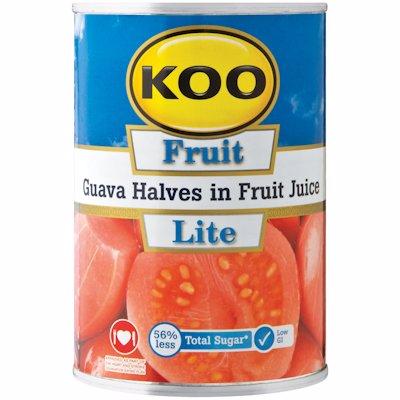 KOO GUAVAS HALVES IN FRUIT JUICE 410G