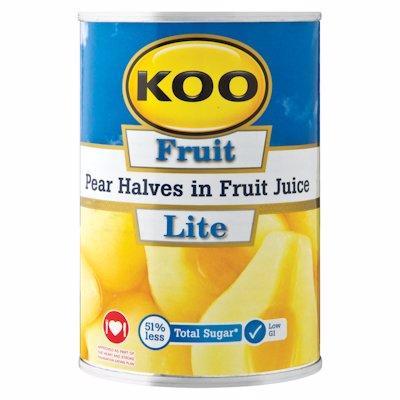 KOO PEAR HALVES IN FRUIT JUICE 410G