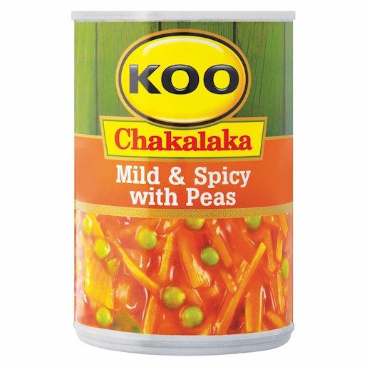 KOO CHAKA PEAS MILD&SPICY 410GR