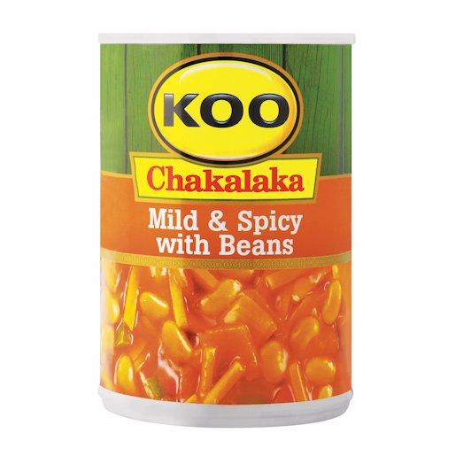 KOO CHAKA MILD/SPICY BEAN 410GR