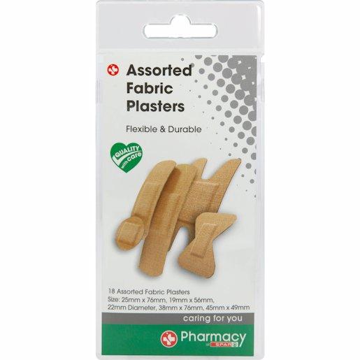 SPAR PH PLASTERS FAB ASST 18'S