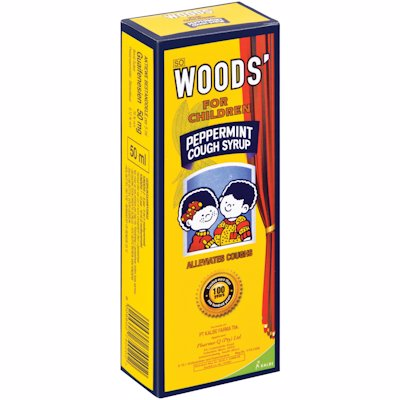 WOODS FOR CHILDREN PEPPERMINT COUGH SYRUP 50ML