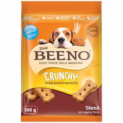 BEENO DOG BISCUITS STEAK FLAVOUR SMALL 300GR