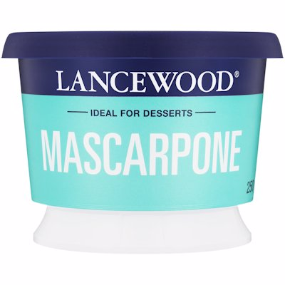 LANCEWOOD MASCAPONE IDEAL FOR DESSERTS 250G