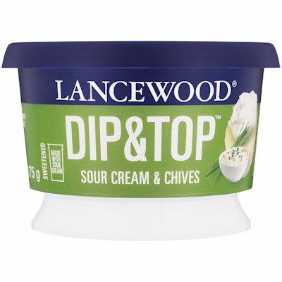 LANCEWOOD DIP & TOP SOUR CREAM & CHIVES 175G