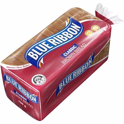 BLUE RIBBON SLICED CLASSIC BROWN BREAD 700GR