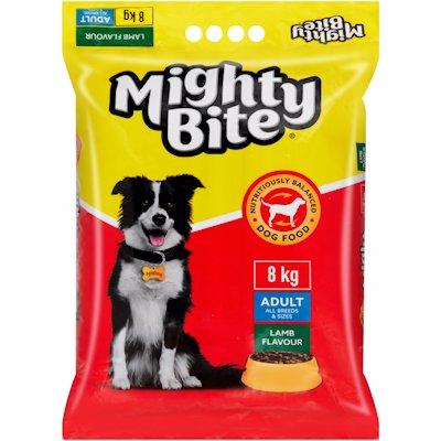MIGHTY BITE DOG FOOD LAMB 8KG