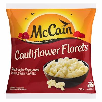 MCCAIN CAULIFLOWER FLORETS 750G