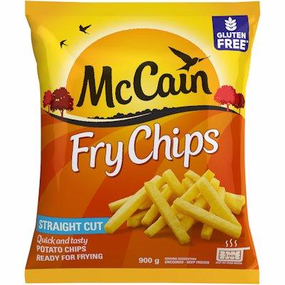 MCCAIN FRY CHIPS STRAIGHT CUT 900GR