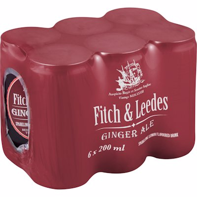 FITCH & LEEDES GIN/ALE 6PK 200ML