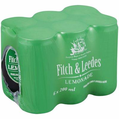 FITCH & LEEDES LEMONADE 6-PACK 200ML