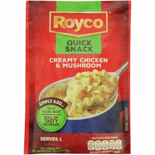 ROYCO Q/SNACK CRMY CHICK & MUS 38GR