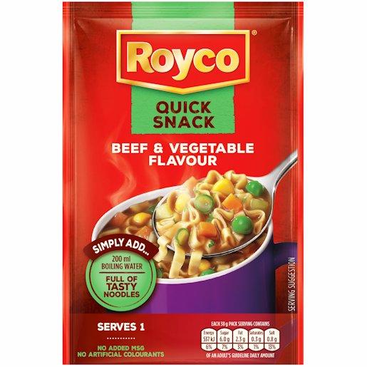 ROYCO Q/SNACK BEEF & VEGETABLE 38GR