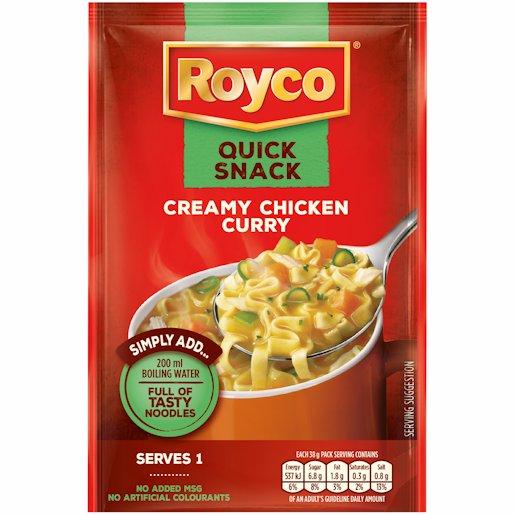 ROYCO Q/SNACK CRMY CHICK CURRY 38GR