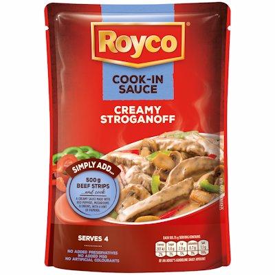 ROYCO COOK-IN SAUCE CREAMY STROGANOFF 415G