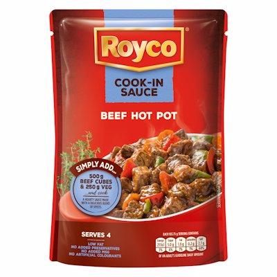 ROYCO COOK-IN SAUCE BEEF HOT POT 48G
