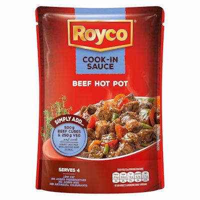 ROYCO COOK-IN SAUCE BEEF HOT POT 415G