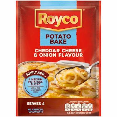 ROYCO POTATO BAKE CHEDDAR CHEESE & ONION 40G