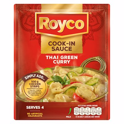 ROYCO COOK-IN SAUCE THAI GREEN CURRY 50G