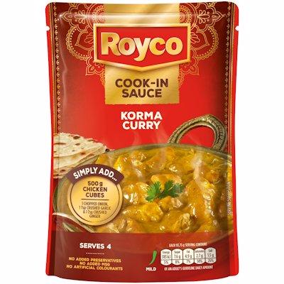 ROYCO COOK-IN SAUCE KORMA CURRY 375GR