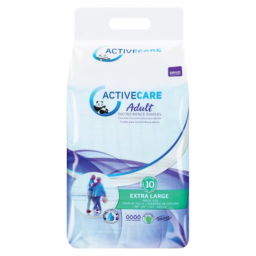 ACTIVE ADULT DIAPERS X/L 10'S