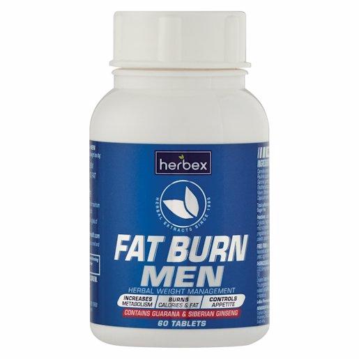 HERBEX FAT BURN TABLETS MEN 60'S