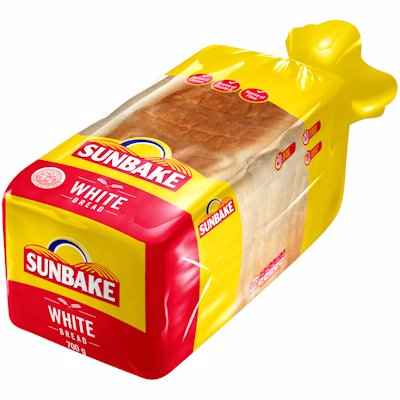 SUNBAKE SLICED WHITE BREAD 700G