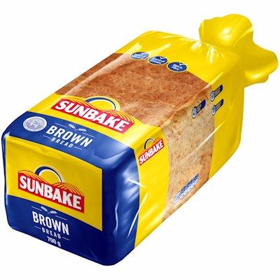 SUNBAKE EVERYDAY SLICED BROWN BREAD 700GR