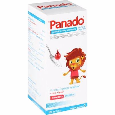 PANADO SYRUP STRAWBERRY ALCOHOL&SUGAR FREE 100ML