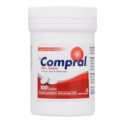 COMPRAL TABLETS PAIN 100'S