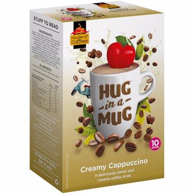 HUG-IN-A-MUG CREAMY CAPPUCCINO STICKS 10'S
